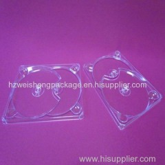 Clear hard cd&dvd digi tray