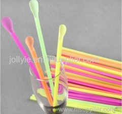 High quality colorful drinking straws with spoon