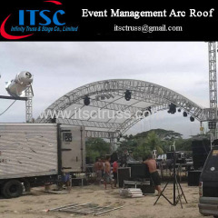 Stage lighting truss Arc roof for outdoor event