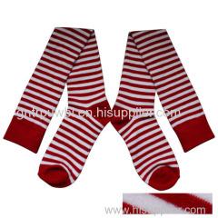 Ladies' Knee Socks Strips Pattern