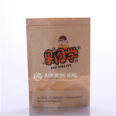 Kraft Paper Zipper Stand up Bags with Clear Window
