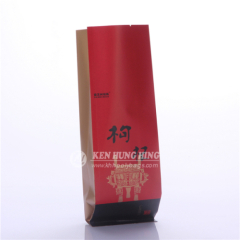 Eco Friendly high quality Printed Kraft paper Gusseted Bag