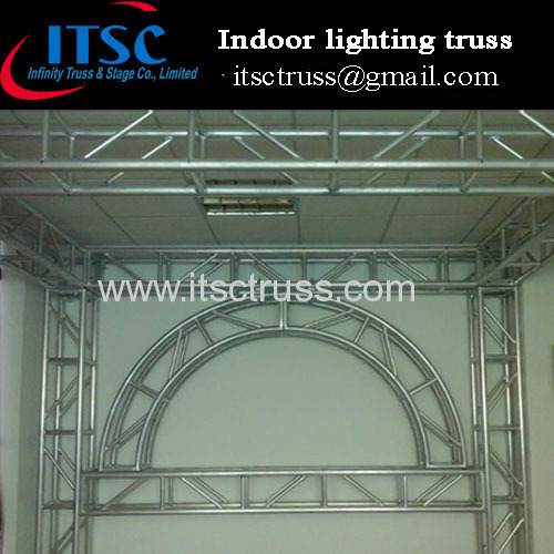 Indoor truss for hanging lighting and speakers