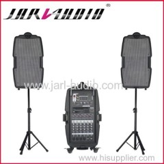 Portable speakers/plastic speakers/one mixer with two speakers