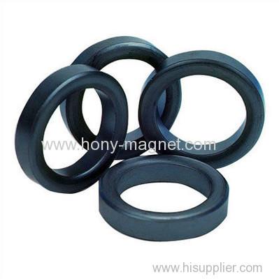 Black diametrically magnetized ring magnets