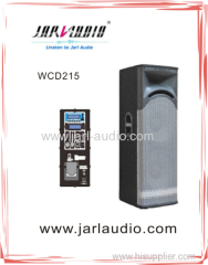 2 x 15 in. Two-Way Professional Active Wooden Loudspeaker System with Class D Amplifier