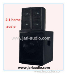 2.1 home audio/2 pcs wooden speakers with 1pc subwoofer