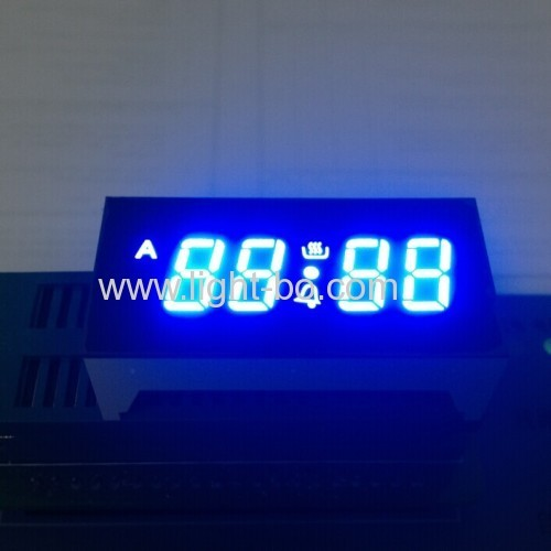 Custom Ultra Blue 4-digit 10mm 7 Segment Led display for 5 Key Oven Timer Control-