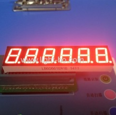 Ultra Red Custom 6 dígitos 14,2 mm 7 segmento Display de LED para a escala de indicadores de pesagem