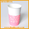 Pink silicone glass cup decorate