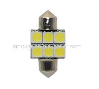 SV 8.5 led dome light led reading lamp Led Festoon Bulb Festoon 6 SMD5050(31mm)