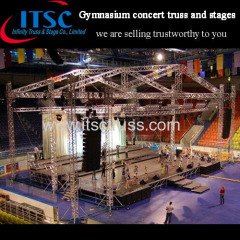 Trussing Rigging and Staging Gable Roof for Concert Events