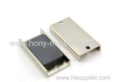 Bonded neodymium oval shape magnet block