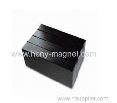 Black epoxy coating bonded block magnets