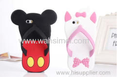 3D silicone slippers phone case covers for iPhone 6 and Samsung China manufacturer