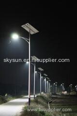 Solar street light .