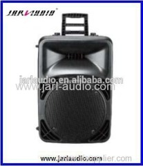 15inch portable speakers with big handle/outdoor plastic active speaker/high power speaker