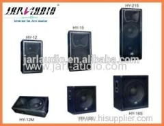 full range wooden speakers/stage power speakers