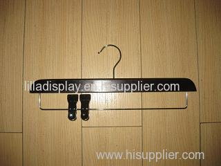 black pant hanger with clips