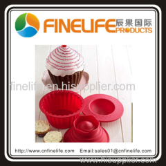 3Pcs Giant Big Silicone Cupcake Mould