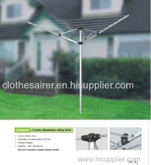 30 Meter Drying Space 3-arm Outdoor Light-weight Aluminum Rotary Clothes Airer