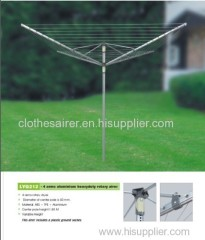 60 Meter Drying Space Umbrella Aluminum Clothes Airer with Ground Spike