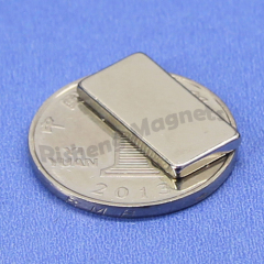 N45M Sintered Neodymium NdFeB Block Magnets 15x4x4 mm with Ni-Cu-Ni Coating