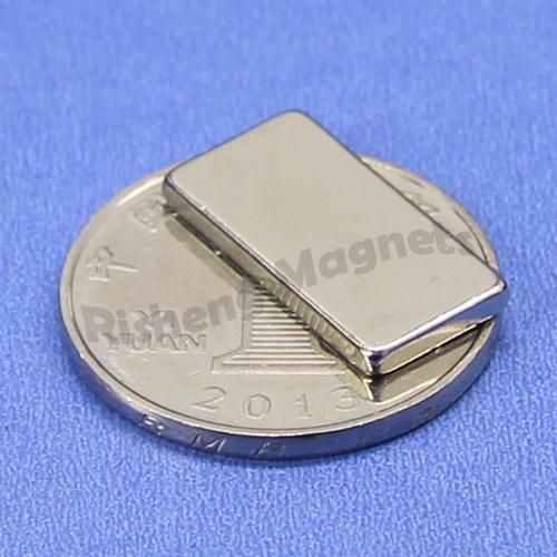 N45M Sintered Neodymium NdFeB Block Magnets 15x4x4 mm with Ni-Cu-Ni Coating