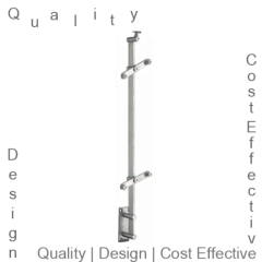 Stair Handrail Glass Post