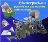 pyramid tea bag machine with envelope device triangular tea packaging machine triangle tea packing machine