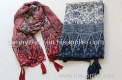 Printing scarf 100% Acrylic scarf