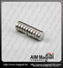 Nickel coating Small disc neodymium magnets n35