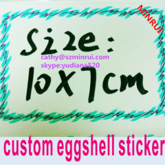 printing hello my name is blank egg shell sticker