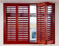 Solid Wooden Basswood Shutter Home Use Shutter