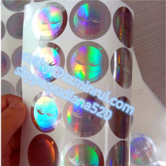 high glossy and water proof cheap custom hologram vinyl sticker
