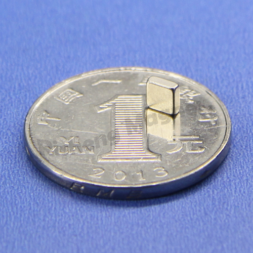 Block 25 x 5 x 5mm Magnetized thr 5mm thickness N42 magnets