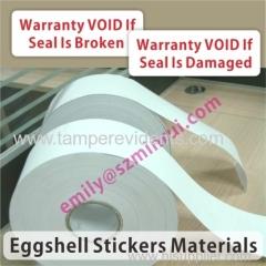 Self destructive destructive brittle breakaway label materials from China