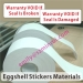 Custom destructible vinyl label material destructible vinyl material self-adhesive destructive label papers from China