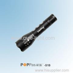 Hot Promotion!120lumens CREE XP-E R2 High Power Rechargeable Mini LED Flashlight POPPAS-S1B