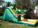 Commercial Kids Jungle Inflatable Water Slide With Small Pool