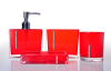 bathroom set with rhinestone double thickness PS plastic bathroom ware
