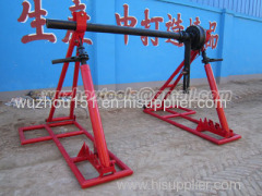 Cable Drum Jacks/Trestles Made Of Cast Iron Ground-Cable Laying