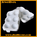White Silicone 6 cavities ice ball maker
