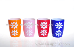 sunflower tooth cup PS plastic double thickness