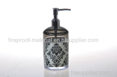 baroque style heat transfer pringting lotion bottle PS plastic