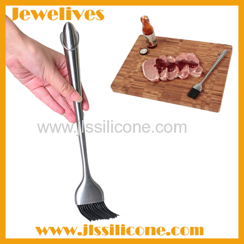 Stainless steel handled with silicone brush in china