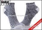 Black And White Zebra Fashion Cotton Ankle Socks , Womens Colored Boat Socks