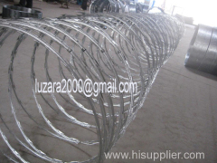 Razor Barbed Tape Concertina Coil Fencing