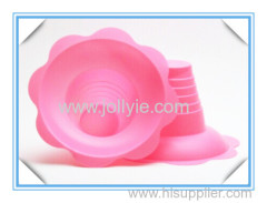 colorful plastic shaved ice cups flower shape designes