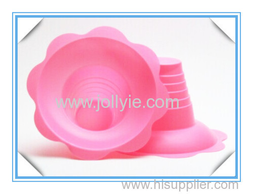 colorful plastic shaved ice cups flower shape designed